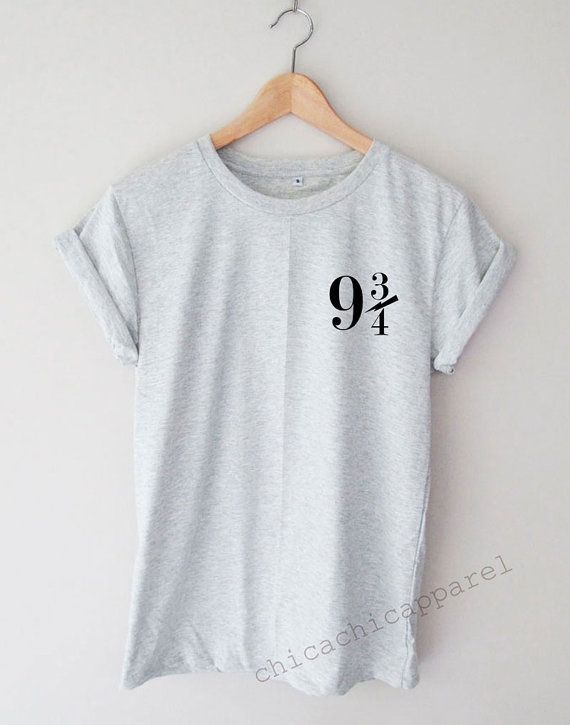 Platform 9 3/4 Harry Potter Shirt Tumblr by chicachicapparel