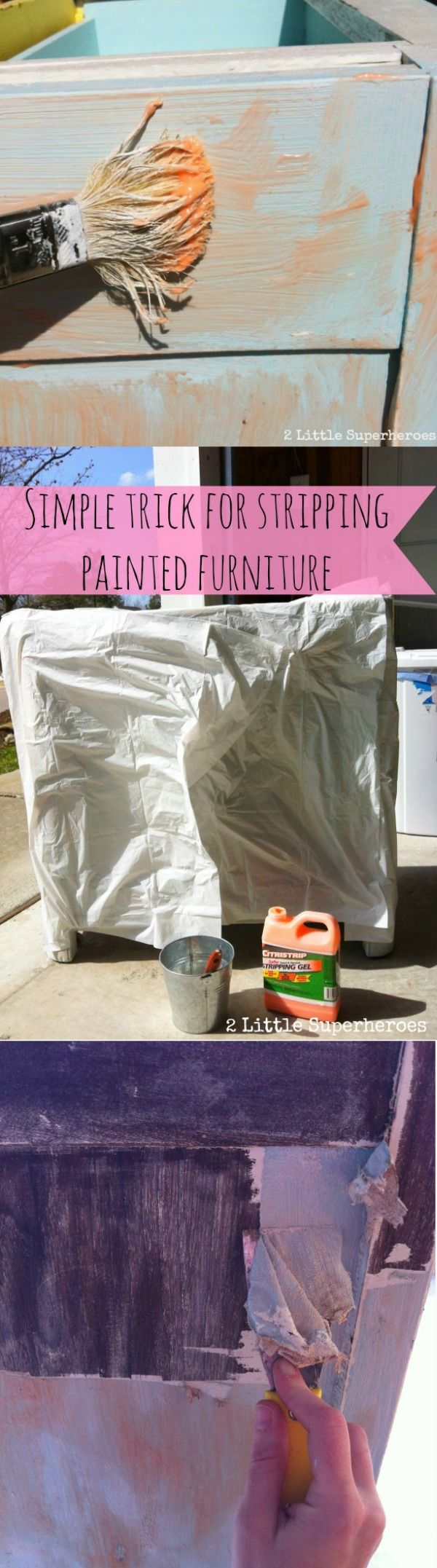 This is the best tip for easily removing layers of old paint from furniture. You won't believe how simple this is!