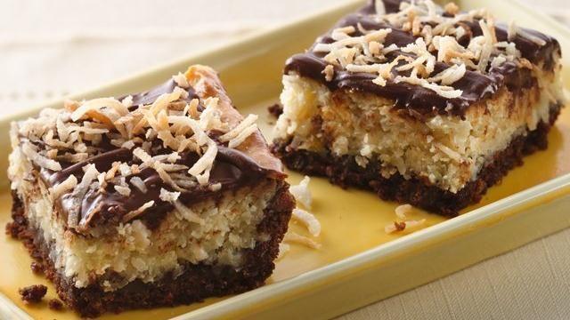 Chocolate-Hazelnut-Coconut Bars - Recipe from Pillsbury