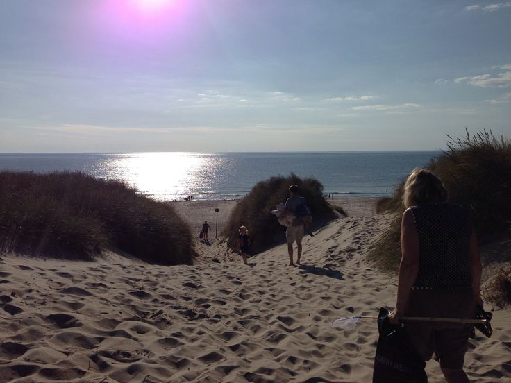 Beautiful beach at the West coast of Denmark close to Hvide Sande