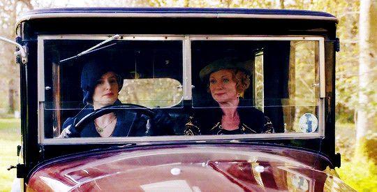 Edith driving
