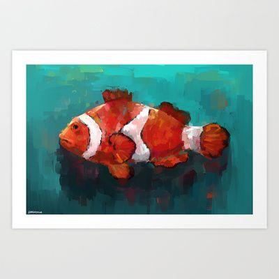 Red Clown Art Print by Zen.Gin - $18.72 @Ryan Clark