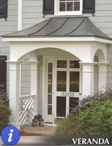 metal roof over portico - Google Search
