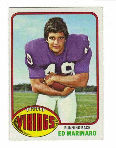 Ed Marinaro Vikings | MINNESOTA VIKINGS - Ed Marinaro #419 Topps 1976 NFL American Football ...