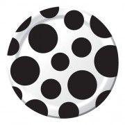 Black Velvet Chevron Dessert Plates - 7in (8 Pack)