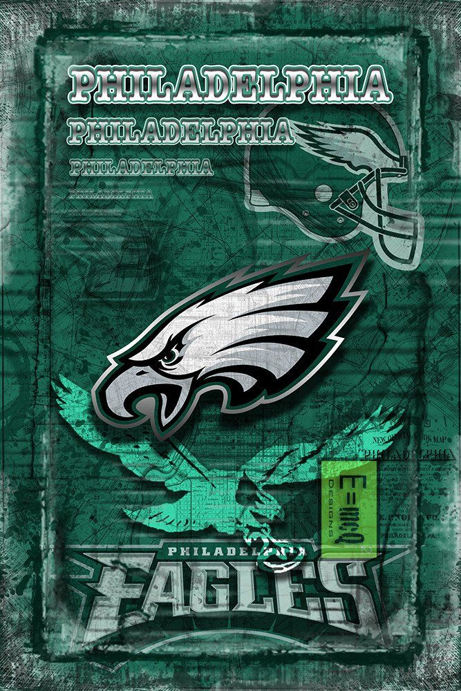 Philadelphia Eagles Football Poster, Philadelphia Eagles Artwork, Phil                      – McQDesign