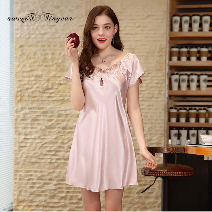 Tinyear Ladies Sexy Silk Satin Night Dress Nighties V-neck Nightgown Plus Size Nightdress Lace Sleepwear Nightwear For Women. Yesterday's price: US $20.70 (16.85 EUR). Today's price: US $15.53 (12.60 EUR). Discount: 25%.