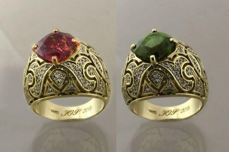 """Фото Женское кольцо """"Монархия"""" (золото, уникальный шри-ланкийский александрит 4ct)"""