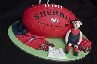 Melbourne Demons AFL Football Cake | by mags20_eb