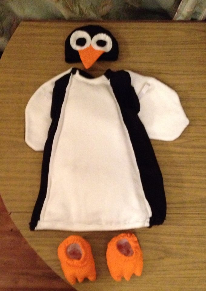 Penguin costume, made for my god-daughter