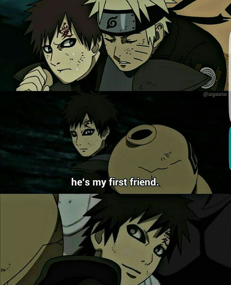 He's My First Friend, Text, Quote, Gaara, Naruto; Naruto