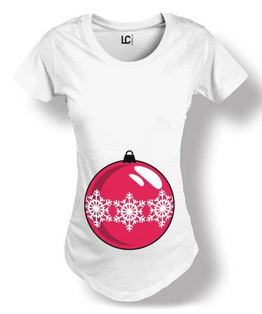 Another great find on #zulily! White Christmas Ornament Maternity Tee - Women #zulilyfinds