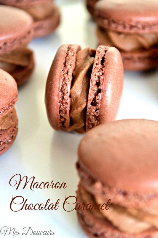 Macaron Chocolat - Ganache Chocolat Caramel