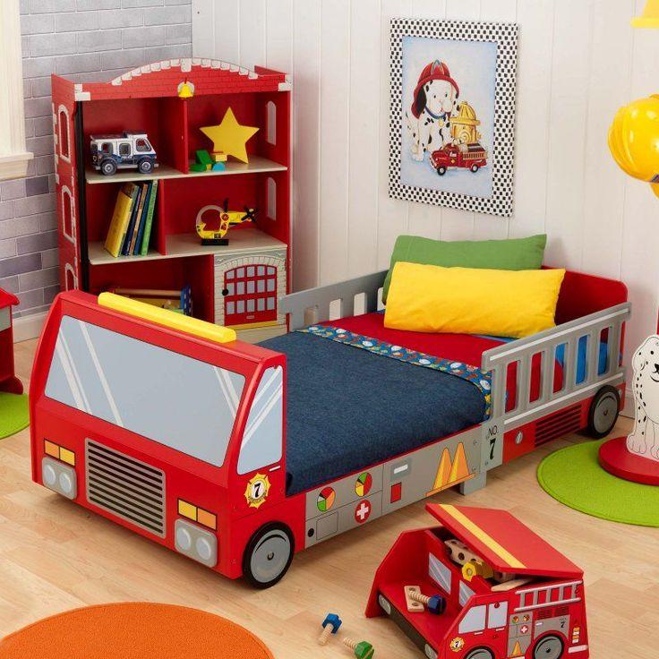 KidKraft Fire Truck Toddler Bed - 76021 - 76021 | Kids ...
