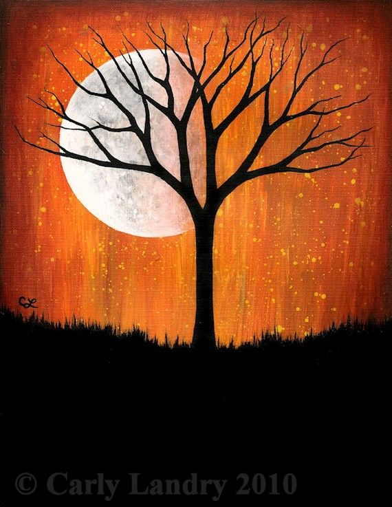 Best 25 halloween canvas paintings ideas on pinterest for Fall paintings easy
