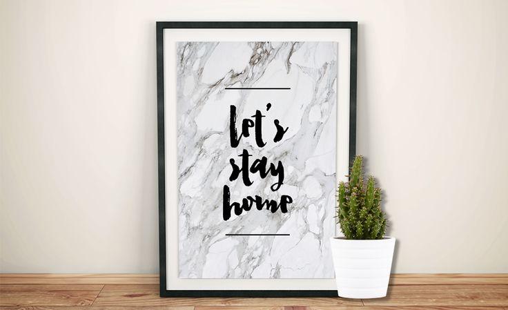 Freebie da Semana: Poster Let's Stay Home