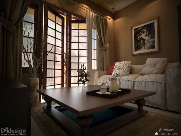 Senior housing living room, bandung Interior design & 3D visual: Dade Andriana