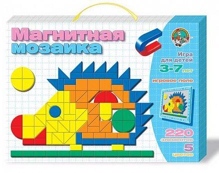 Мозаика разноцветная магнитная «Ежик» Десятое королевство, 01480ДК