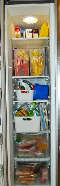 1000 Images About Side By Side Fridge Organization On