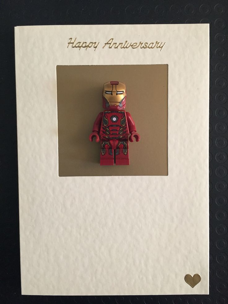 Iron man wedding anniversary card - something a bit different to traditional 'iron' anniversary present!