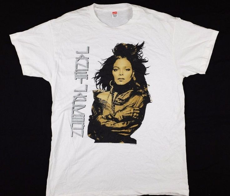 Vtg 1990 Janet Jackson Concert Tour T-Shirt XXL Rhythm Nation pop music