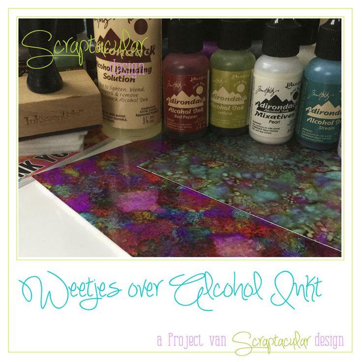 24 juli Alcohol Inkt - Scraptacular Design