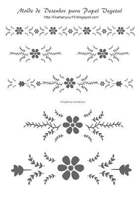 Lika Hanyuu - Artesanato -Papel Vegetal XD: [Molde Pattern] Papel Vegetal Desenhos - Parte 2