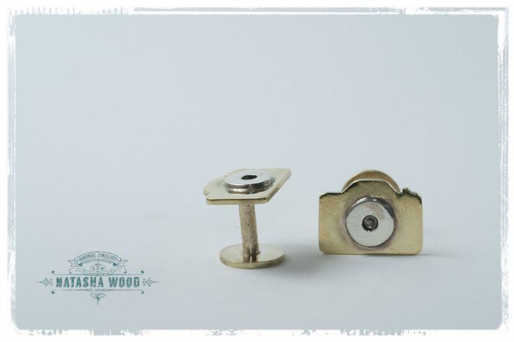 Camera cufflinks by Natasha Wood Jewellery