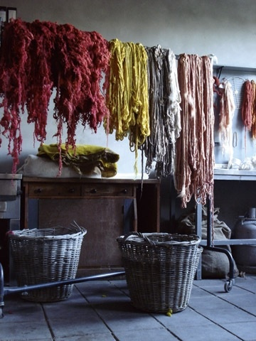 Amazing skeins drying...Dyed Yarns, Inspiration, Bloom Magazines, Colors, Textiles, Hands Dyed, Claudie Jongstra, Nature Dyes, Colours