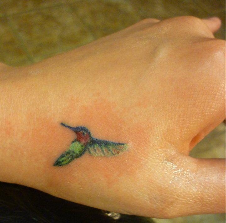 tiny hummingbird tattoo- Artist at 'til Death tattoo in Portland, Maine