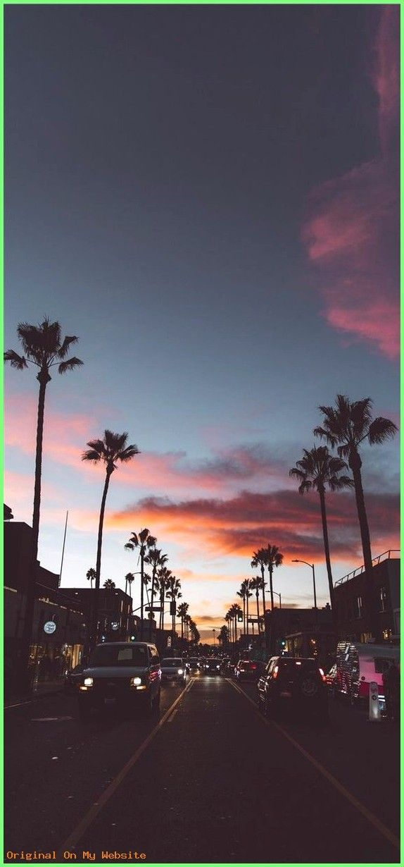 Wallpaper Tumblr Los Angeles Wallpaper Lockscreen Citylights Palms Wallpapertumblraes Achtergrond Kruisteken Boomtakken