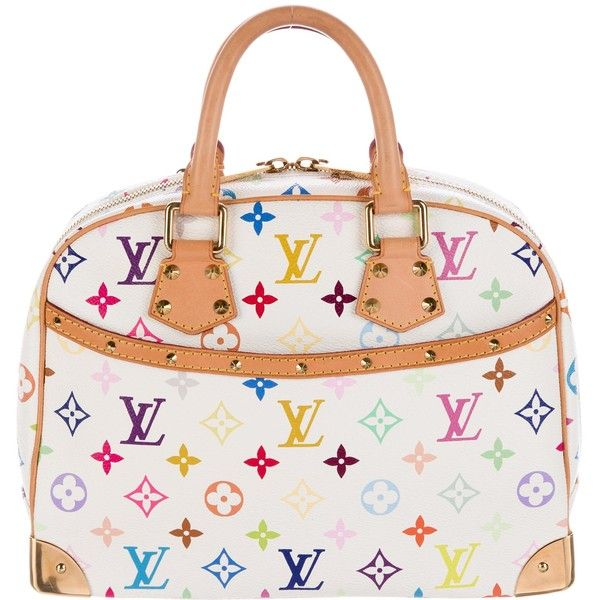 Pre-owned Louis Vuitton Multicolore Trouville Bag ($795) ❤ liked on Polyvore featuring bags, handbags, white, colorful purses, handbag purse, studded purse, louis vuitton handbags and colorful handbags