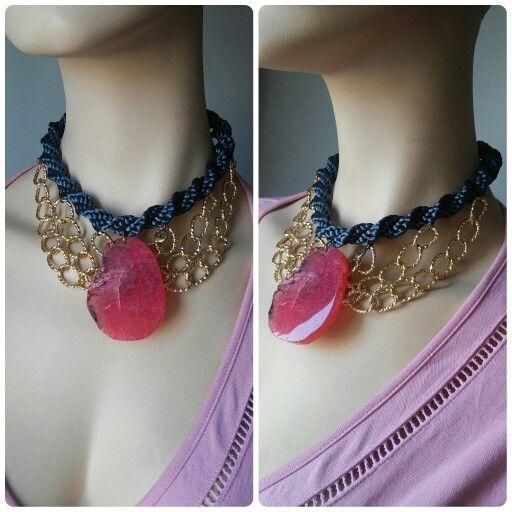 En la nueva colección podréis encontrar collares tan elegantes como este, perfectos para cualquier ocasión.  Collar Luvjan Spiral con piedra natural  www.facebook.com/bycosmicgirl