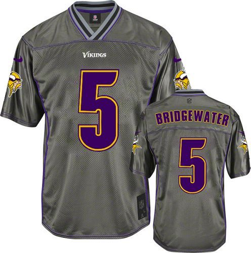 $24.99 Nike Limited Teddy Bridgewater Grey Men's Jersey - Minnesota Vikings #5 NFL Vapor