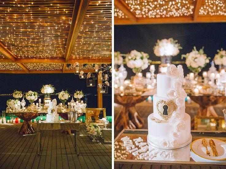 Luxury wedding cake of Marina Luczenko and Wojciech Szczesny at Athens Greece planned by DePlanV