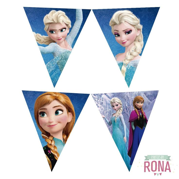 Más imágenes para decorar tu cumple temático de Frozen /// More pennants to decorate your Frozen themed birthday!! #frozen #banderin #cumple #decocumple #decoracion #cumpleaños #fiestatematica #elsa #anna #banner #imprimible #printable #fiesta #cumple #tematico #birthday #themedparty #party #printablebanner #decoration