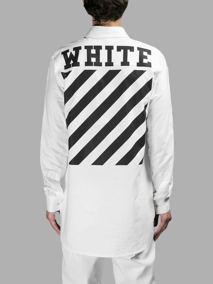 オフ・ホワイト(OFF-WHITE C/O VIRGIL ABLOH)カジュアルシャツ OFF WHITE C/O VIRGIL ABLOH MEN'S WHITE OXFORD SHIRT