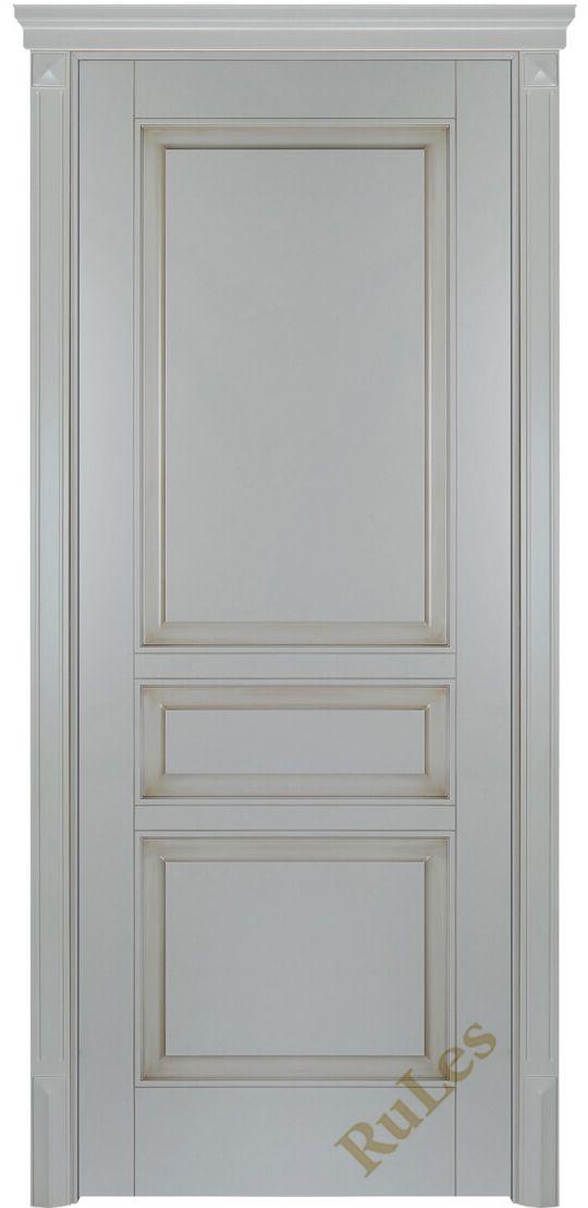"""Дверь межкомнатная """"Монако"""" в отделке """"каменно-серый патина. """"#двери #межкомнатные #рулес #русский_лес #интерьер"""