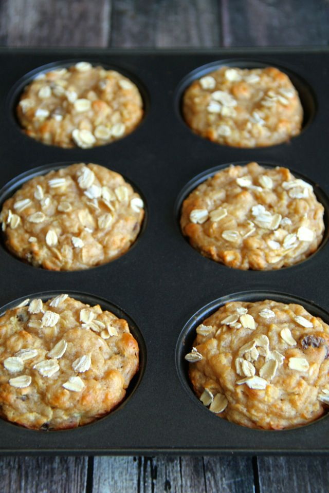 Apple Oat Greek Yogurt Muffins -- ridiculously soft and tender with NO butter or oil! A perfect breakfast or snack! || runningwithspoons.com #healthy #apple #muffins