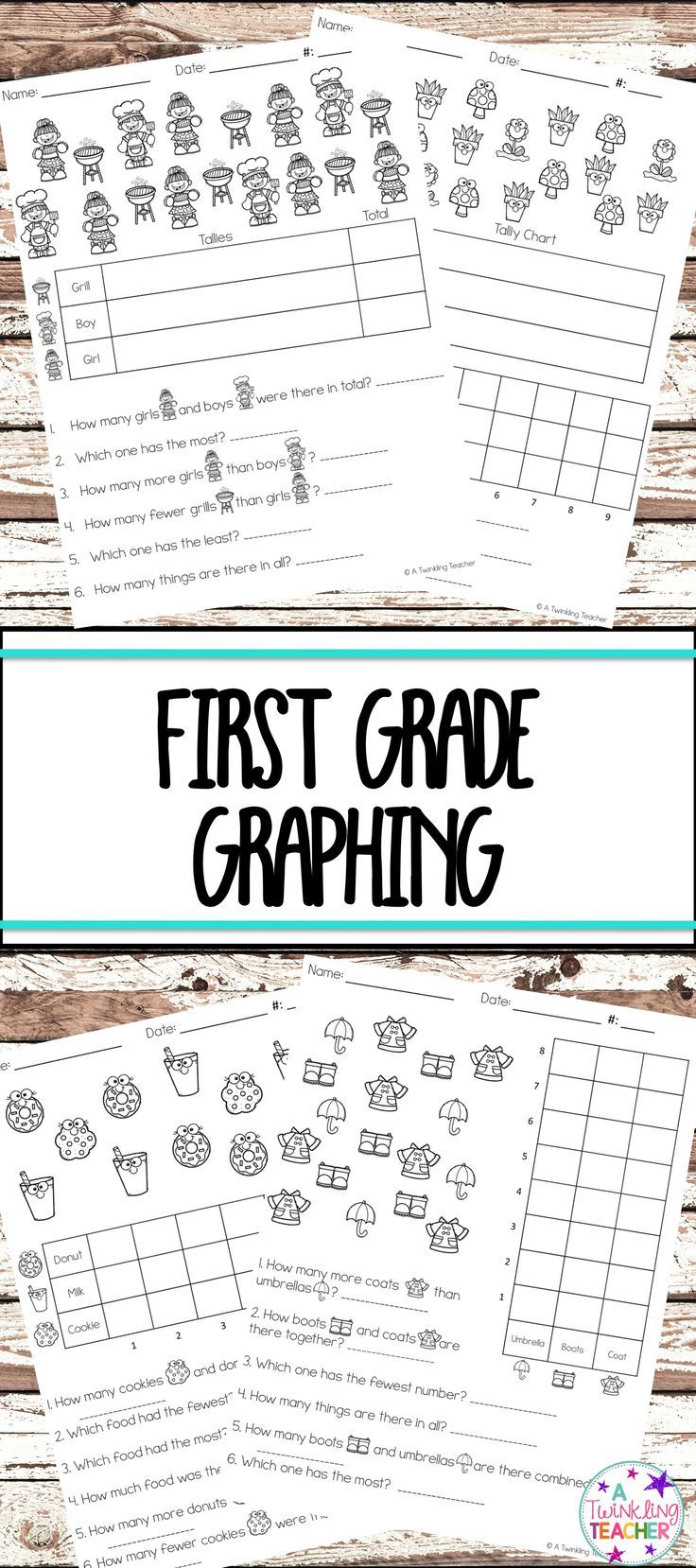 Easy Prep First Grade Graphing Just Print And Go 4 Styles Of Practicing With Tally Charts Math Activities Elementary 1st Grade Activities First Grade Math [ 1658 x 736 Pixel ]