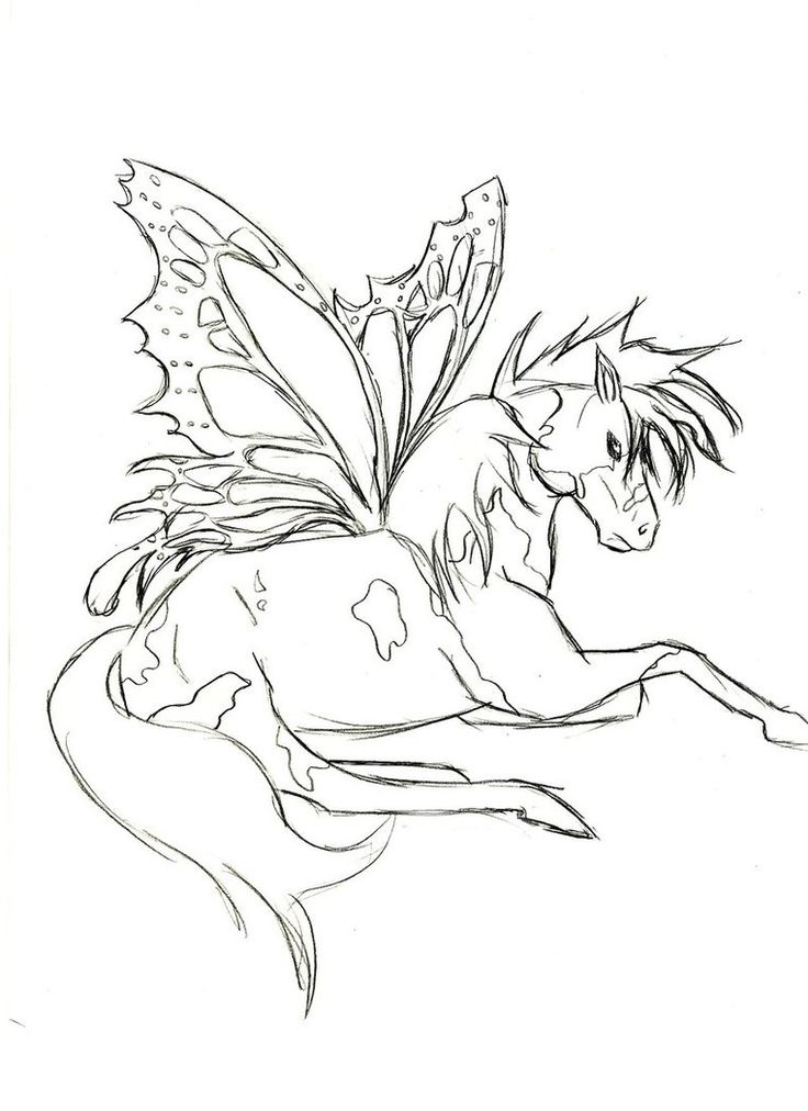 fearie pegasus coloring page - Coloring Pages Unicorn Wings