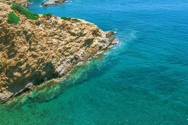 Turquoise bay in Bali on the Greek island of Crete