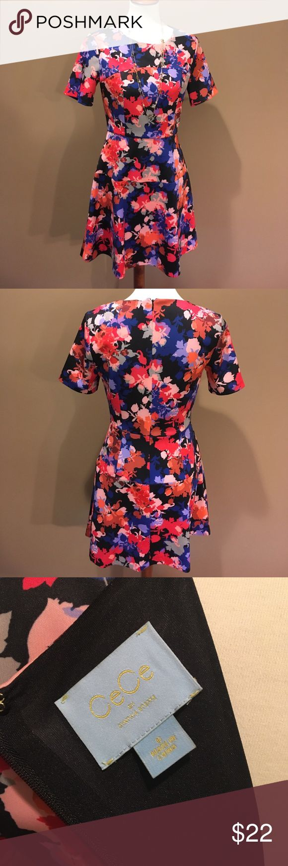 Floral CeCe Dress Fun floral print CeCe dress. Soft fabric with a little stretch. Cute with wedges or business dress shoes. CeCe Dresses