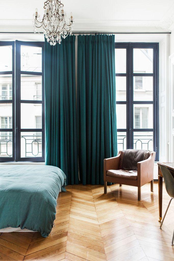 les 25 meilleures id es concernant rideaux chambre. Black Bedroom Furniture Sets. Home Design Ideas