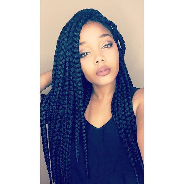 By @imadamejay Something new!  Crochet Jumbo Box Braids! It's a lot of hair but I'm loving it! #love_samsbeauty Yes I filmed a video for it! I got y'all! ❤️