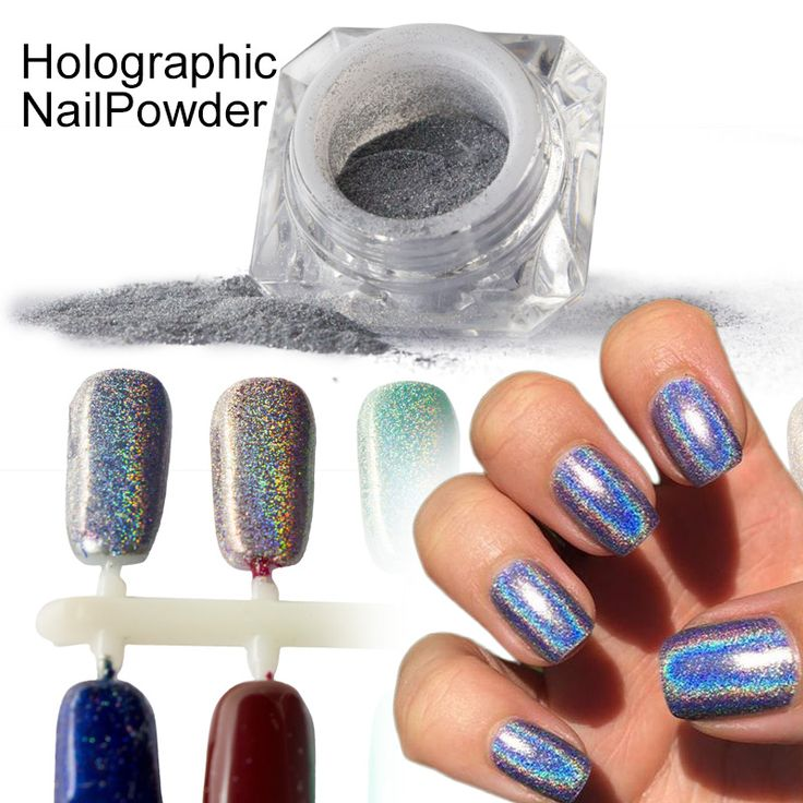 1g/Box Rainbow Shinning Mirror Nail Glitter Powder Perfect Holographic Nails Dust Laser Holo Nails Pigment Silver Decoration