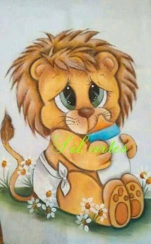 Resultado de imagen para desenhos de leãozinho baby para pintar