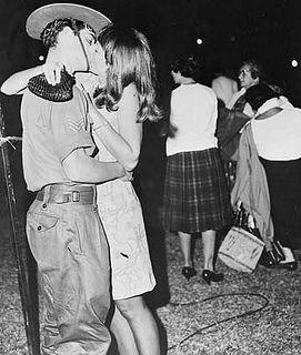 Australian soldier leaving for the Vietnam War. 1968.