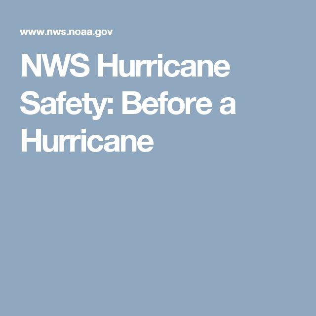NWS Hurricane Safety: Before a Hurricane
