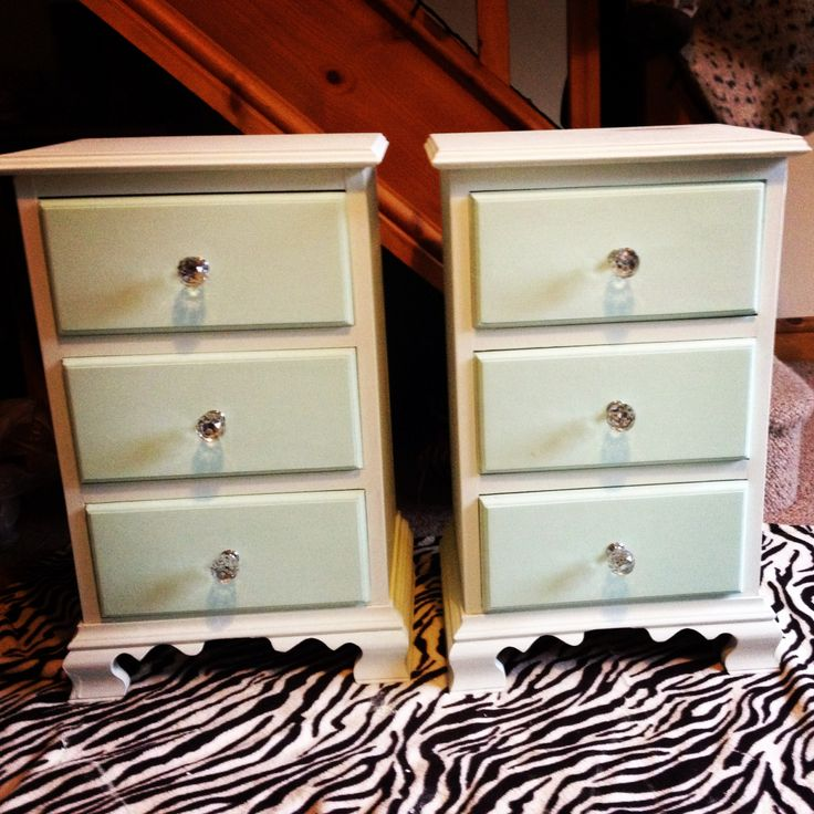 Upcycled pine bedside tables